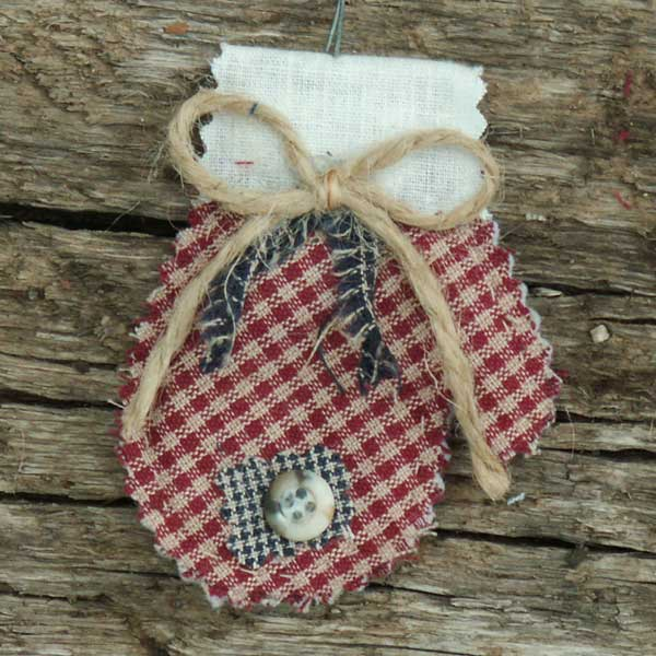 primitive quilted homespun christmas ornaments jubilee homespun projects - Primitive Christmas Decorations